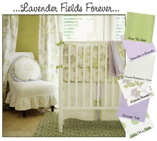 Lavender Fields Forever Baby Bedding