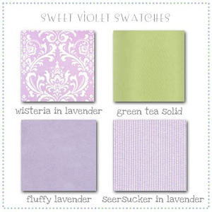 Sweet Violet Fabric Swatches