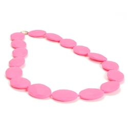 Hudson Teething Necklace-Pink-Chewbeads Hudson Teething Necklace,teether,teether necklace,teething necklace,Pink, punchy