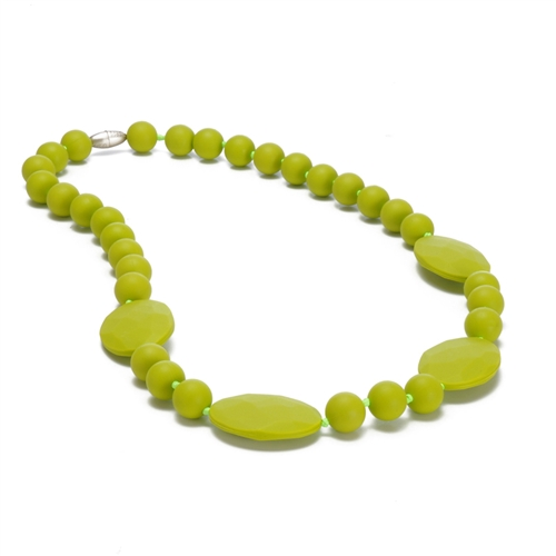Perry Teething Necklace-Chartreuse-Chewbeads Perry Teething Necklace,chewbeads,teether,teether necklace,teething necklace,Perry Teething Necklace Chartreuse,lime,Chartreuse, Perry Teething Necklace-Chartreuse