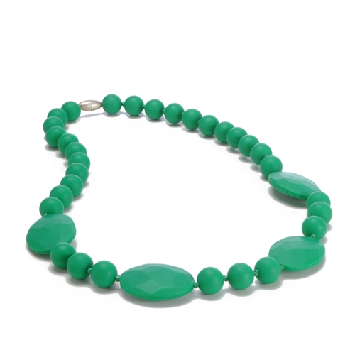 Perry Teething Necklace-Emerald Green-Chewbeads Perry Teething Necklace,chewbeads,teether,teether necklace,teething necklace,Perry Teething Necklace Emerald Green,green,Emerald Green, Perry Teething Necklace-Emerald Green