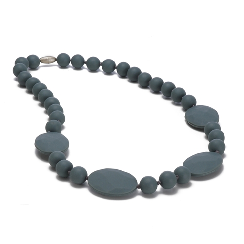 Perry Teething Necklace-Stormy Grey-Chewbeads Perry Teething Necklace,chewbeads,teether,teether necklace,teething necklace,Perry Teething Necklace Stormy Grey,Stormy Grey,Grey, Perry Teething Necklace-Stormy Grey