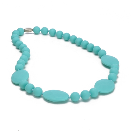 Perry Teething Necklace-Turquoise-Chewbeads Perry Teething Necklace,chewbeads,teether,teether necklace,teething necklace,Perry Teething Necklace Turquoise ,Turquoise,aqua, Perry Teething Necklace-Turquoise