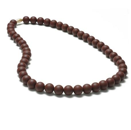 Jane Teething Necklace-Chocolate-Chewbeads Jane Teething Necklace,teether,teether necklace,teething necklace,Chocolate, brown