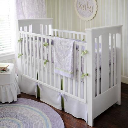 Sweet Violet Baby Bedding Set-Sweet Violet Baby Bedding Set, lavender,green tea,damask, changing pad, crib set, bedding set, nursery set