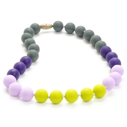 Juniorbeads Bleecker Jr. Necklace - Chartreuse-juniorbeads, chewbeads,silicone jewelry, bright colorful, childrens jewelry,  bleecker,  Juniorbeads Bleecker Jr. Necklace,Chartreuse,