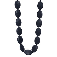 Hudson Teething Necklace-Black-Chewbeads Hudson Teething Necklace,teether,teether necklace,teething necklace,Black