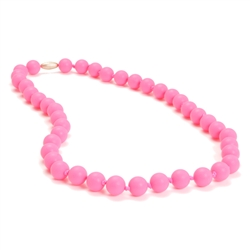 Jane Teething Necklace-Pink-Chewbeads Jane Teething Necklace,teether,teether necklace,teething necklace,Pink