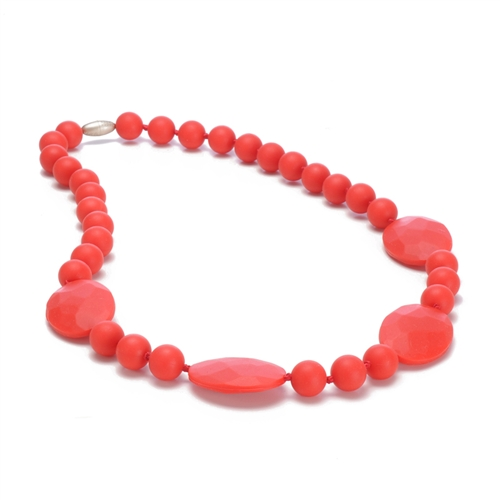 Perry Teething Necklace-Cherry Red-Chewbeads Perry Teething Necklace, Cherry Red,chewbeads,teether,teether necklace,teething necklace,Perry Teething Necklace Cherry Red,red