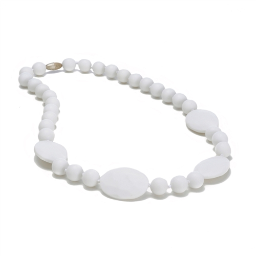 Perry Teething Necklace-White-Chewbeads Perry Teething Necklace,chewbeads,teether,teether necklace,teething necklace,Perry Teething Necklace White,White, Perry Teething Necklace-White