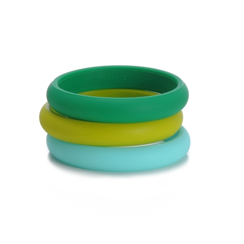Skinny Charles Bangle - Emerald Green-Chewbeads Skinny Charles Bangle - Emerald Green,chewbeads,teether,teether bracelet,teething bracelet,Skinny Charles Bangle - Emerald Green,Emerald Green bangle,Emerald Green, kelly green, green