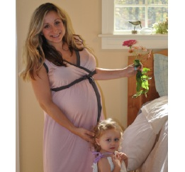 Blush BG-Birthing Gown-Birthing gown, delivery gowm, labor gown, hospital gown, fashionable, soft, comfortable,made in the usa, eco-friendly, soft, blush