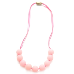 Juniorbeads Madison Jr. Necklace (Glow in the Dark) - Bubble Gum-juniorbeads, chewbeads, glow in the dark,madison jr. necklace, madison, pink, aqua, fuschia,purple, juniorbeads,