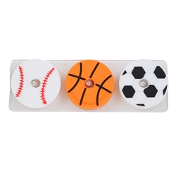 Chewbeads Stack and Play - Play Ball-Chewbeads,Stack and Play,Play Ball, stacker, teether toy, teether stacker, chewbeads, basketball, baseball, soccer, teethers, sports teether, baseball teether